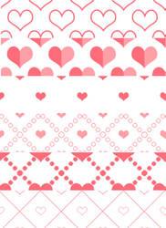 Free heart Photoshop patterns