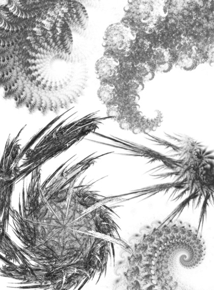 Fractal Brushes Pack 2 For Photoshop by mfcreative