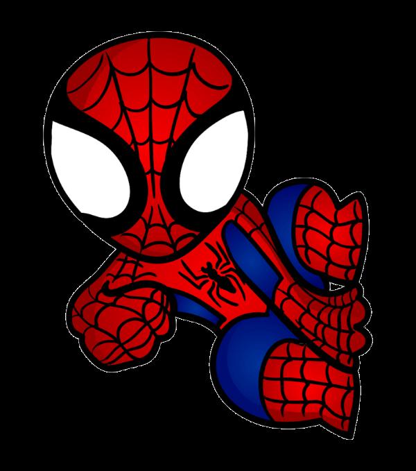 Black spiderman chibi