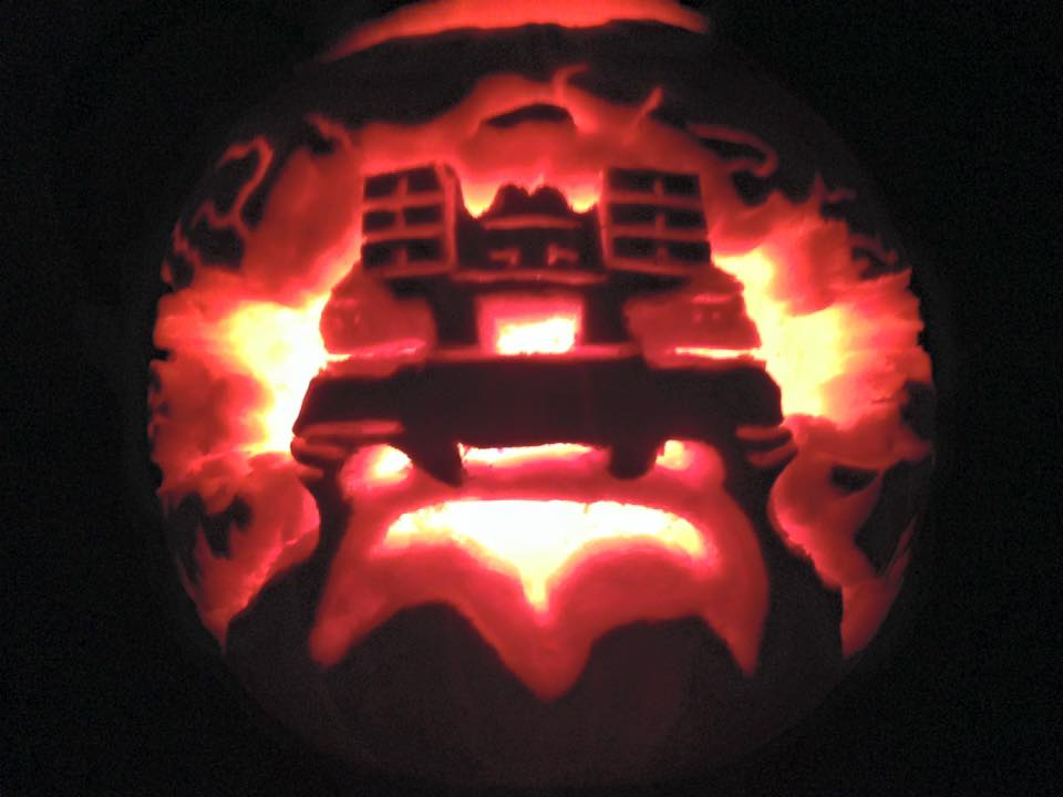 Delorean pumpkin by Nywoe