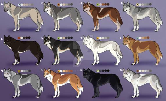 Natural Wolf Adoptables 2: Closed