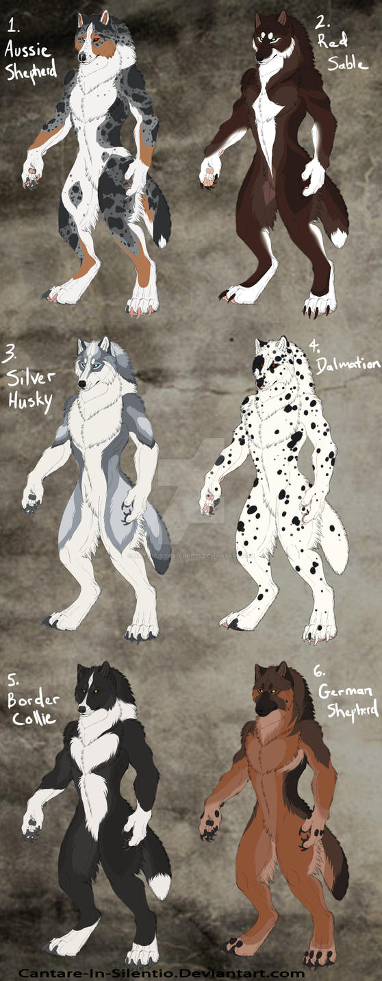 WereWolf Adopts (dog breed edition): CLOSED by Nature-Ridge-Adopts