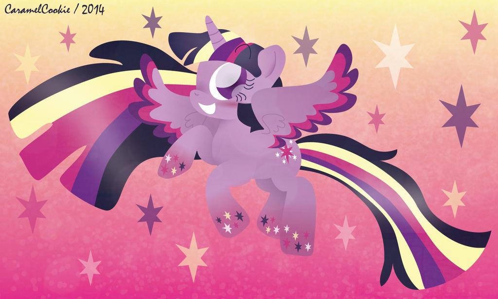 Rainbow Power Twilight Sparkle by CaramelCookie
