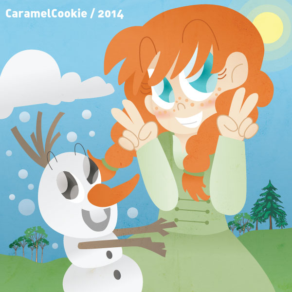Anna and Olaf by CaramelCookie