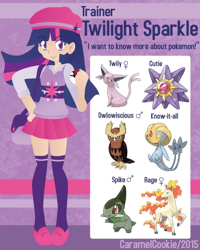 My Little Pokemon Trainer - Twilight by CaramelCookie