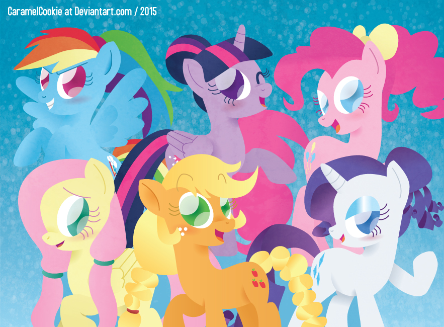 Mane Six Hairstyles by CaramelCookie