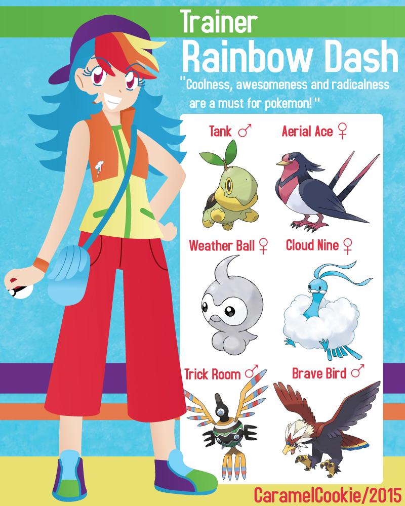 My Little Pokemon Trainer Rainbow Dash By Caramelcookie On Deviantart