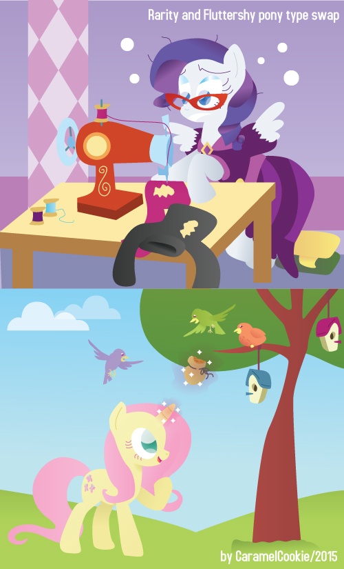 Switched Pony types - Rari and FS by CaramelCookie