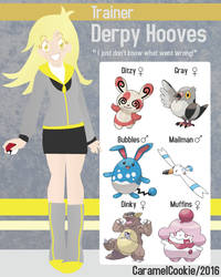 My Little Pokemon Trainer - Derpy Hooves by CaramelCookie