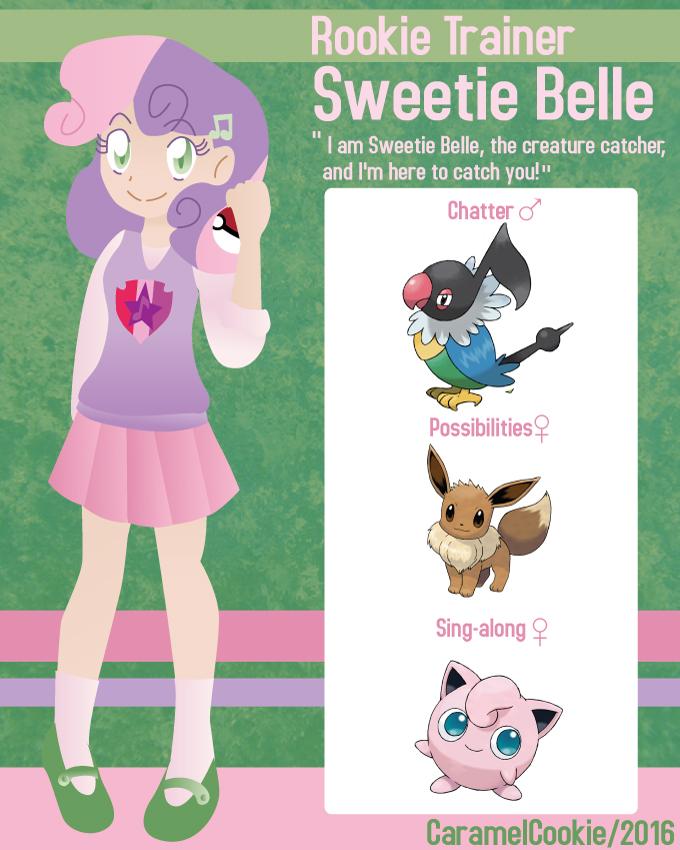 My Little Rookie Pokemon Trainer - Sweetie Belle by CaramelCookie