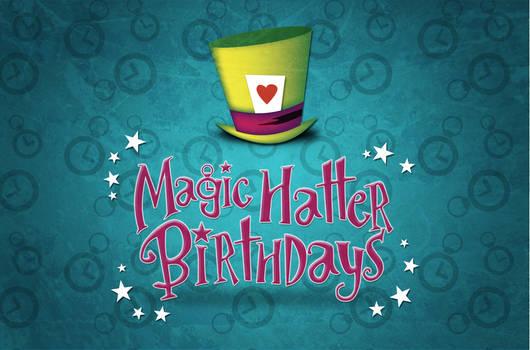 Magic Hatter Birthdays Logo