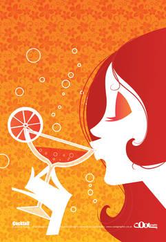 Cocktail Girl Retro Style