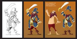 Pirate Captain - Sticker Study