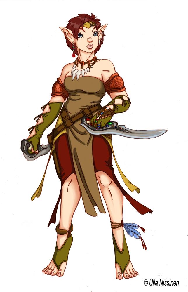Elf rogue by Ullervoinen