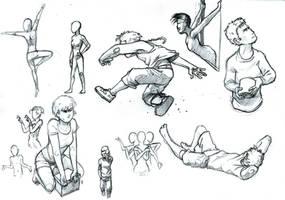 Posing practice 3 by acnero