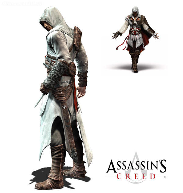 AC 1 & 2 Assassincreed_Ezio_and_Altair2_by_9Anthony9
