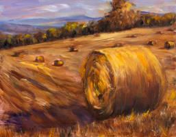 Hay Stacks 2 by Wulff-Arts