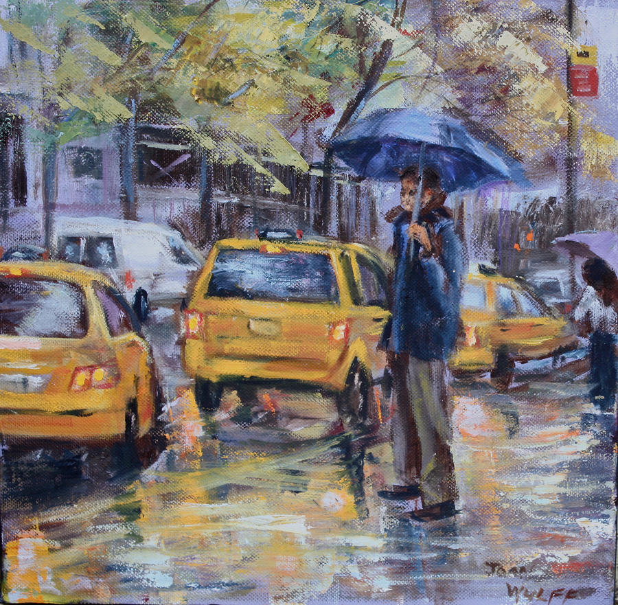Taxis going by Wulff-Arts