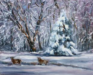SNOW IN MY BACK YARD by Wulff-Arts