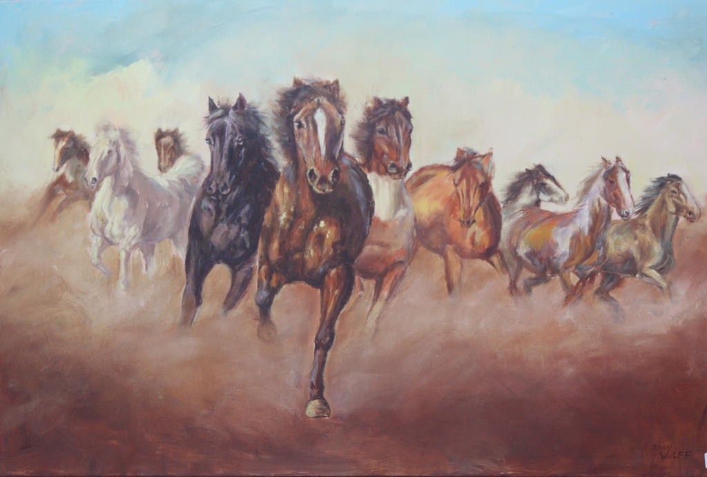 WILD HORSES by Wulff-Arts