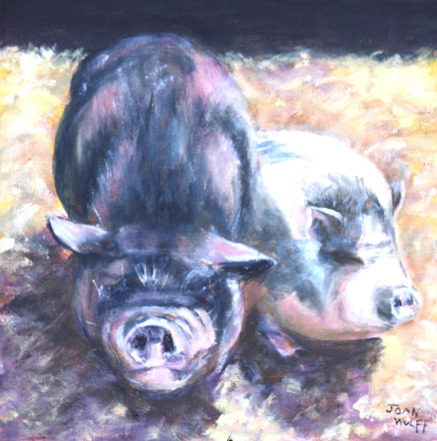 TWO LITTLE PIGS by Wulff-Arts