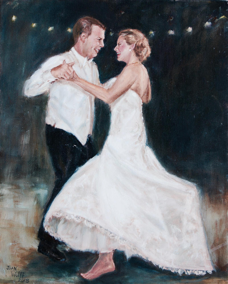 DANCING AT THEIR WEDDING by Wulff-Arts