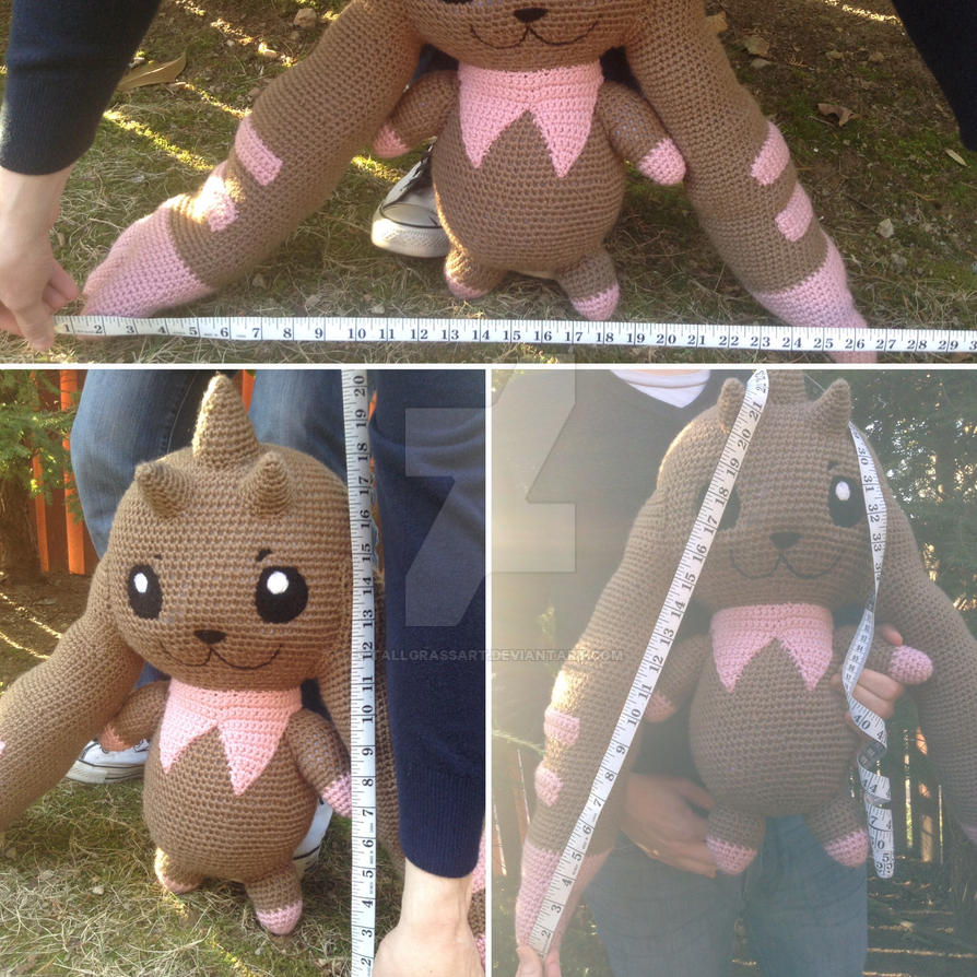 More (Nearly) Life-Size Lopmon Amigurumi by Krejdar