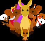 The DA Llamas by miyuu1chan