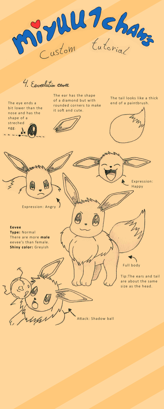 Custom tutorial 4 - eeveelution series - eevee by miyuu1chan