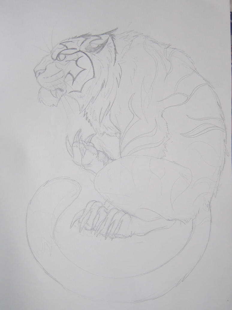 tiger tattoo design part 1 by