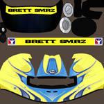 Brett Smrz Race Helmet Temp.
