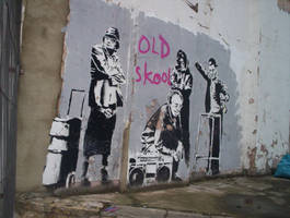 Banksy, Old skool. by zerozombie