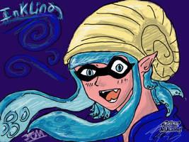 Inkling Girl Fan character. by GenkoFox