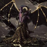 Gold, black and purple by Chanteur-de-Vent