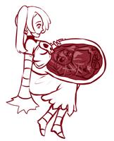 Skullgirls Vore Sketch: *Non-vore in description* by cakecatboy