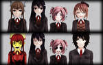 [ MMD Doki Doki Literature Club ] Group Pack DL+