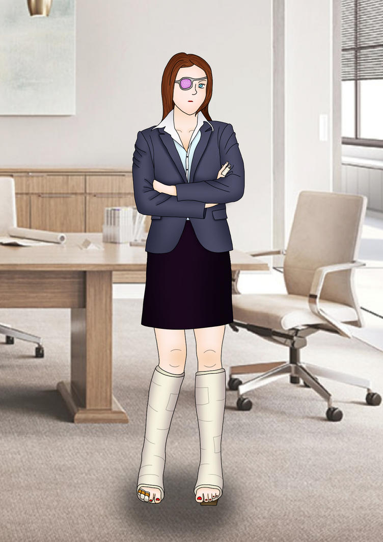 Michelle in the office by sharkycast