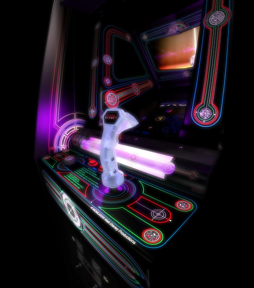 Tron Video Game Cabinet Render by peterhirschberg