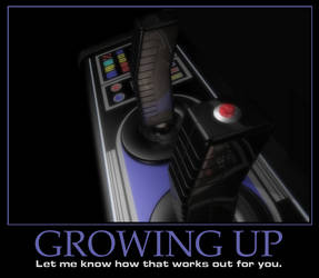 Motivational Poster - 'Growing Up'