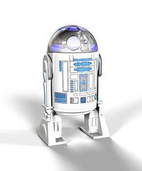 R2D2 Action FIgure 3D Model