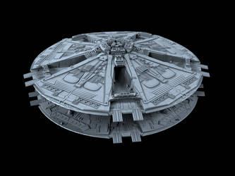 Cylon Basestar 02 by peterhirschberg