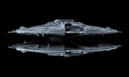 Cylon Basestar 01 by peterhirschberg