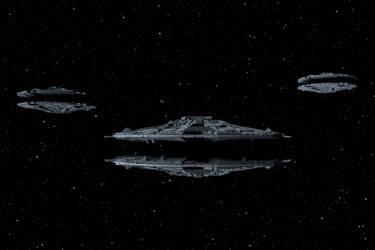 Three Cylon Baseships by peterhirschberg