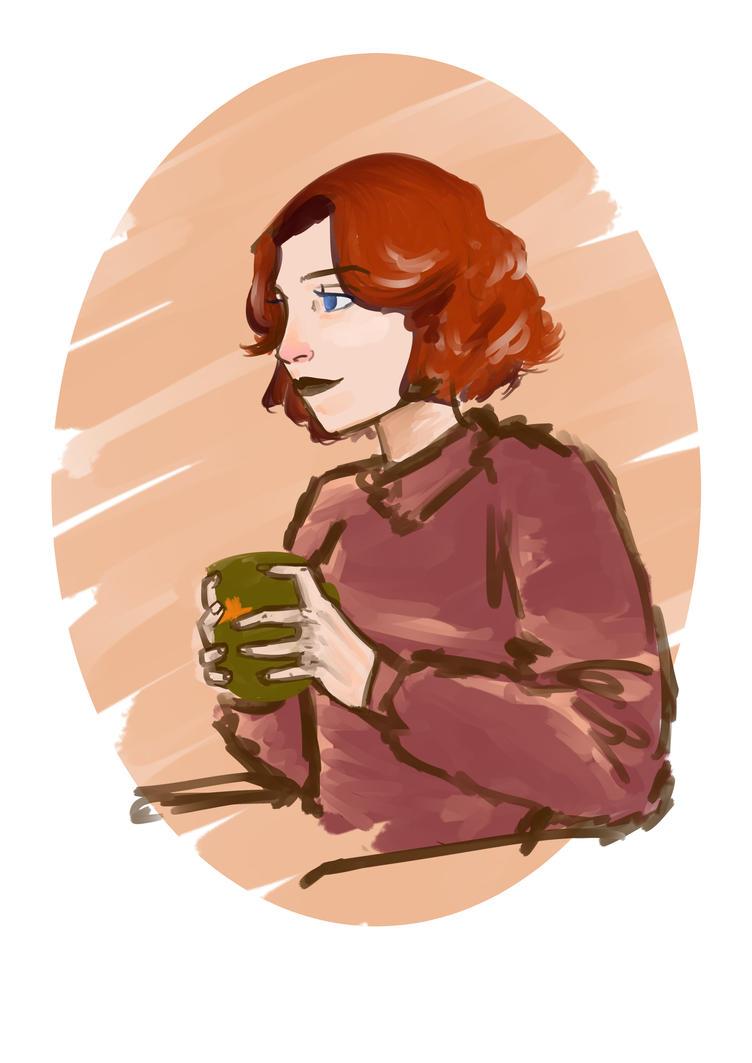 Romanoff's coffee time by Hellsea