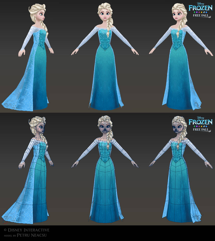932737dc89 Elsa - Low poly model for Frozen Free Fall by Shaka-zl on DeviantArt