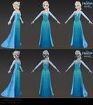 Elsa - Low poly model for Frozen Free Fall
