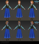 Anna - Low poly model for Frozen Free Fall
