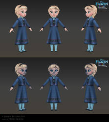 Elsa Child - Low poly model for Frozen Free Fall