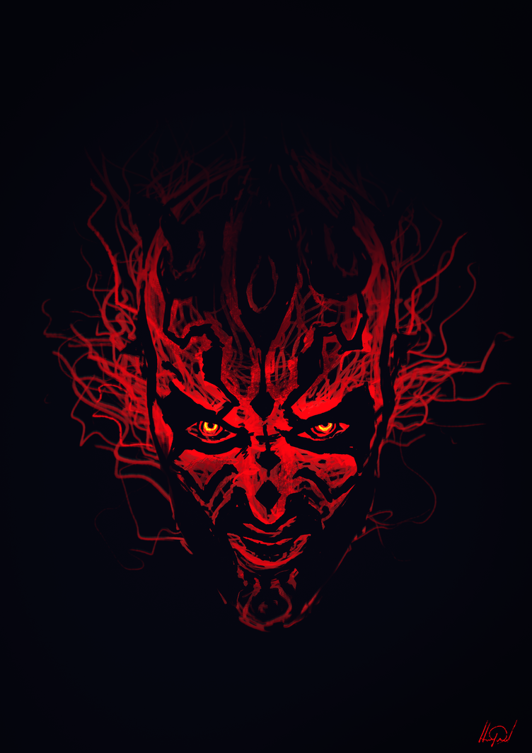 Maul - quick angry sketch... by Shaka-zl
