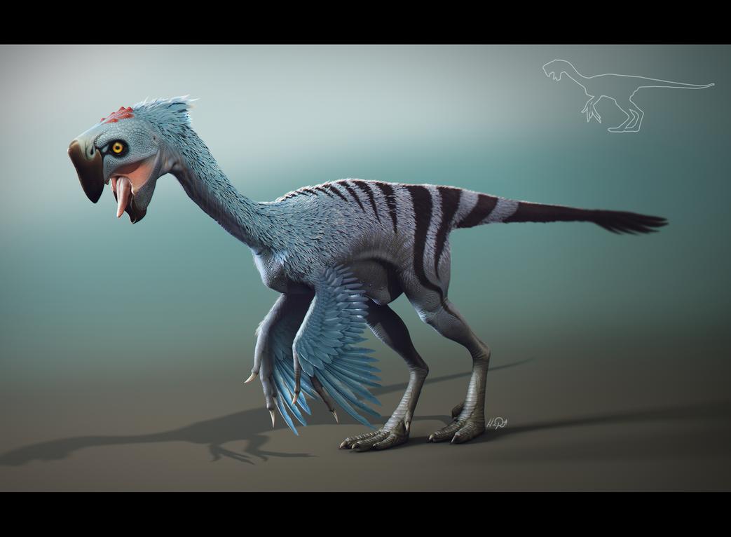 Oviraptor - Nemegtomaia by Shaka-zl